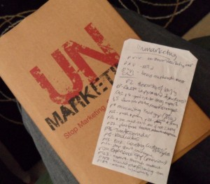 UnMarketing notes
