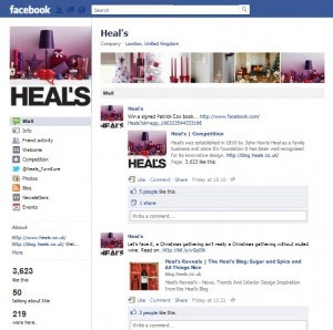 Heals Facebook page screenshot