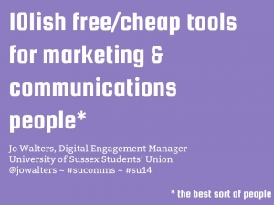 101ish free or cheap tools for marketing and communications people presentation